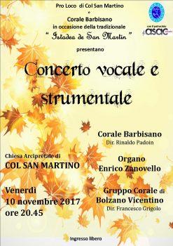 Concerto di Col San Martino – 10 Novembre 2017