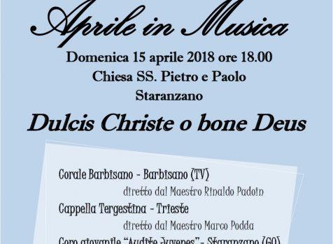 Aprile in Musica – Staranzano (GO) – 15 Aprile 2018